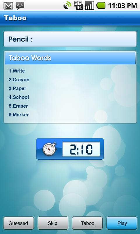 Taboo - screenshot