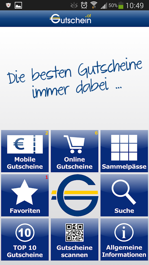 Gutschein.at - screenshot