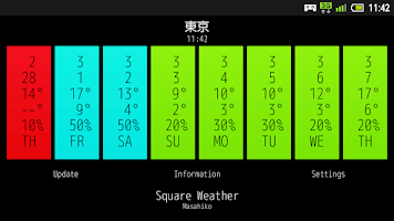 Screenshot of Square Weather (Japanese)