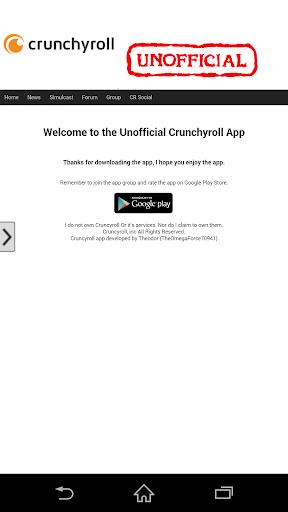 Unofficial Crunchyroll App