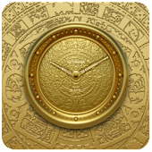 MAYA GOLD Alarm Clock Widget