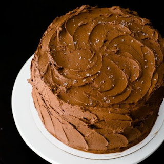 Chocolate Cake with Whipped Ganache Frosting.