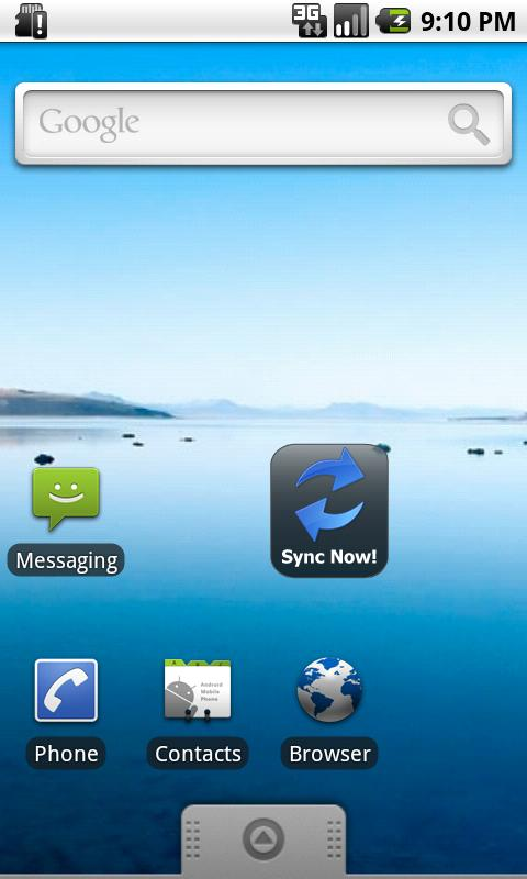 Sync Now Widget - screenshot