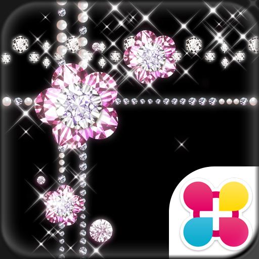 Jewel Theme Diamond Flower Icon