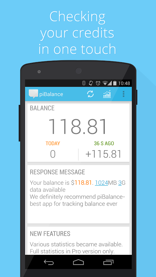 USSD piBalance—track balance - screenshot