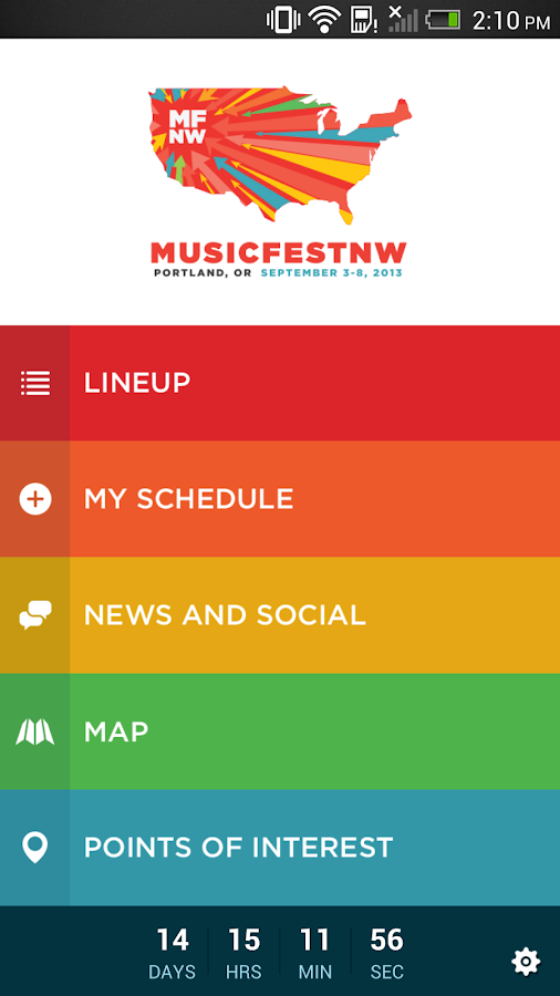 MusicfestNW 2013 - screenshot