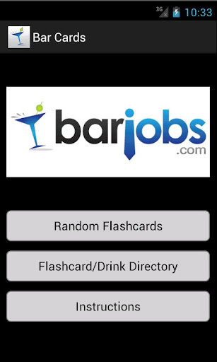 Bar School Flash Cards