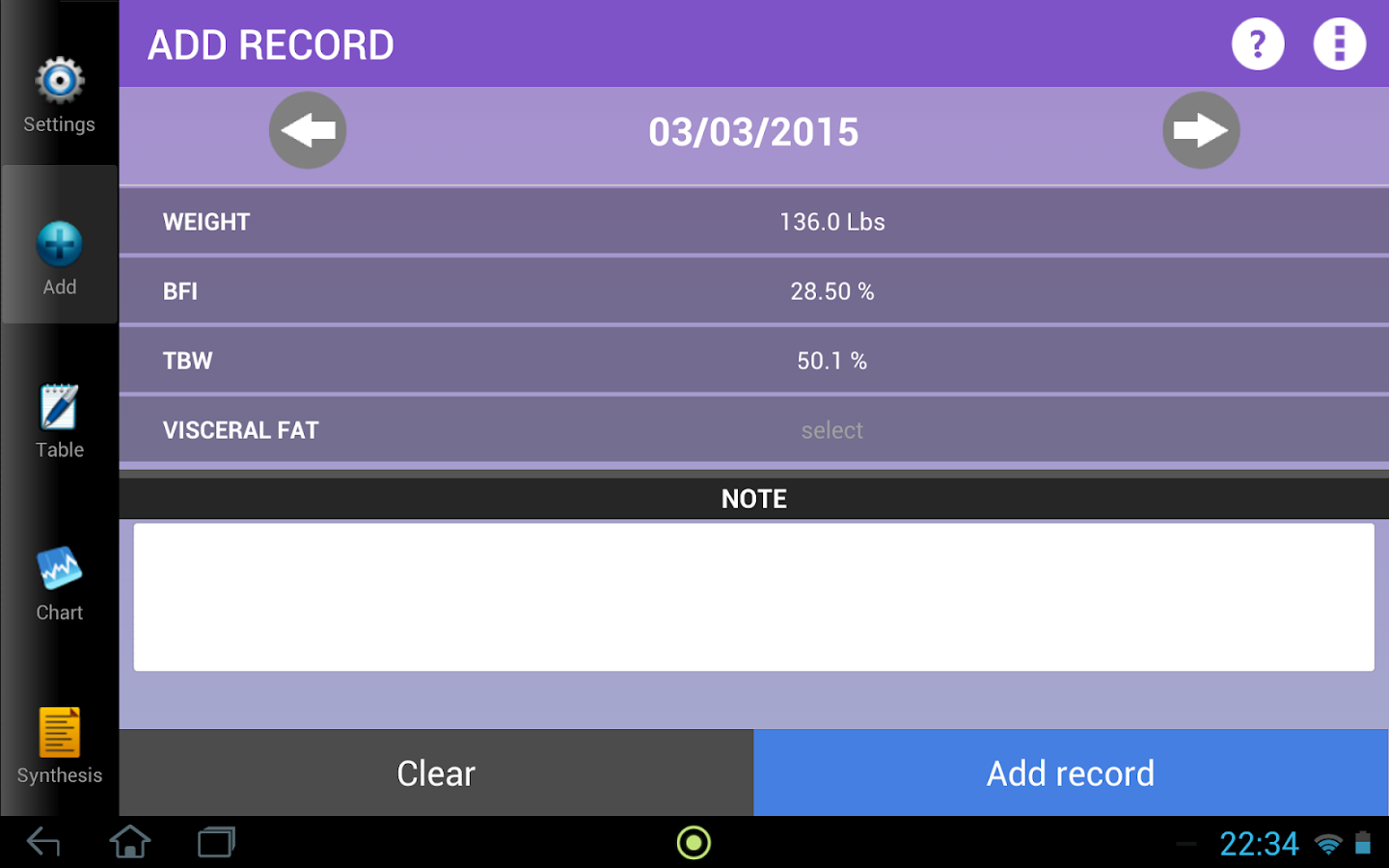 Weigh-In Deluxe Weight Tracker - Android Apps on Google Play