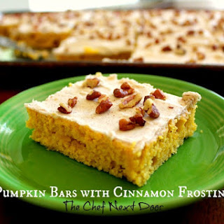 Pumpkin Bars with Cinnamon Frosting
