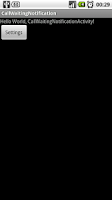 Screenshot of Call Wait Vibrate