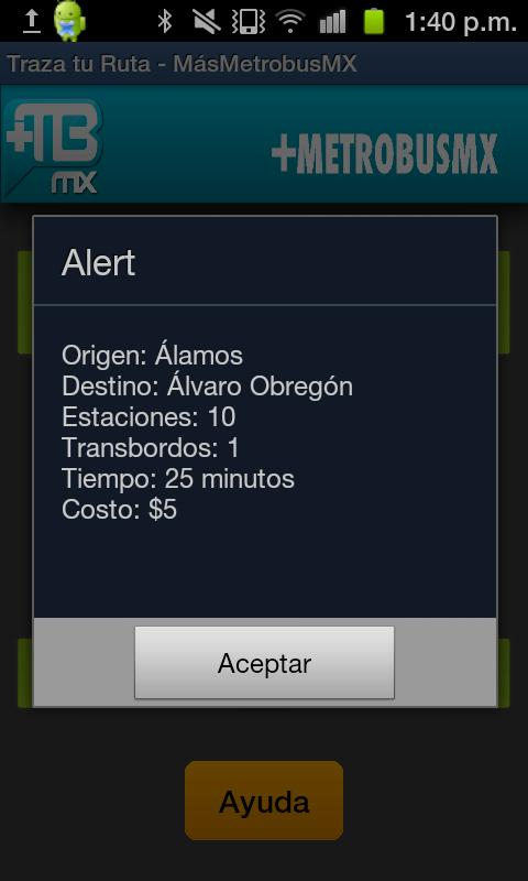 Metrobus MX - screenshot
