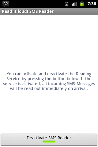 Read it loud! SMS Reader Basic - screenshot