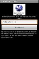 Screenshot of PSN TROPHY CARD