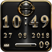 Golden Empire Digital Clock