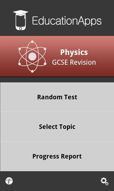 Physics GCSE Self-Assessment - screenshot