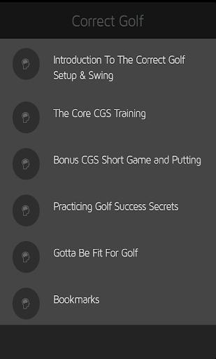 Correct Golf Setup Swing