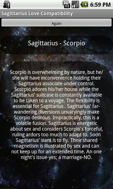Sagittarius Love Compatibility - screenshot