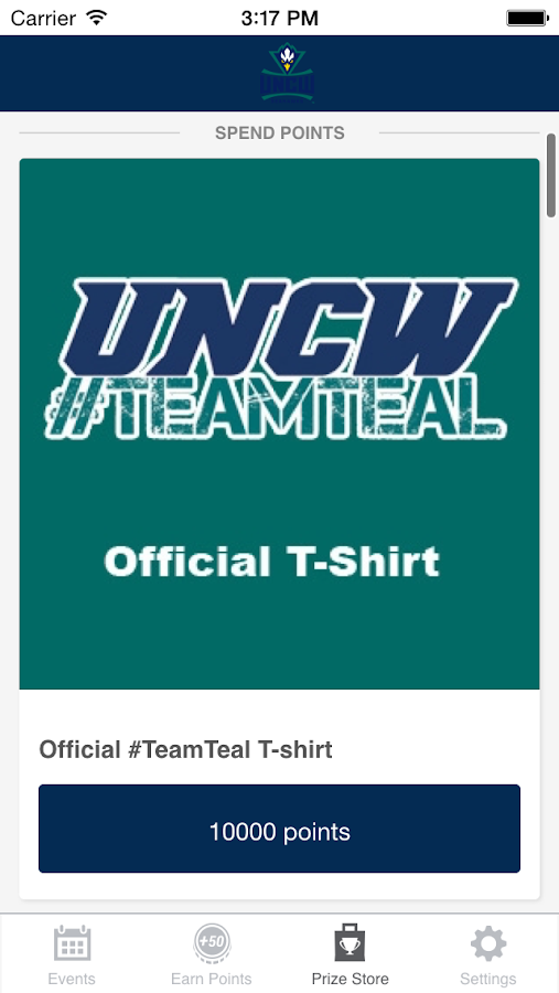 UNCW Team Teal - screenshot