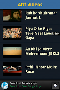 Atif Aslam Video Songs - screenshot thumbnail