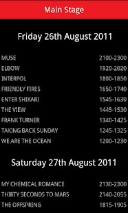 Leeds Festival 2011 Guide - screenshot thumbnail