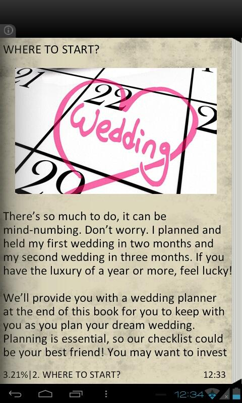 Planning The Perfect Wedding - screenshot