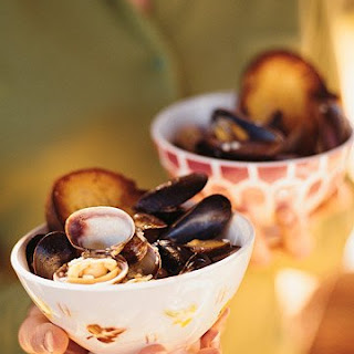 Steamed Mussels and Clams.