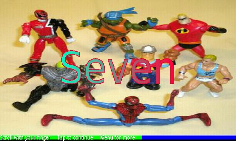 Count Action Toys 1-10- screenshot