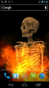 Skull Fire Live Wallpaper - screenshot thumbnail