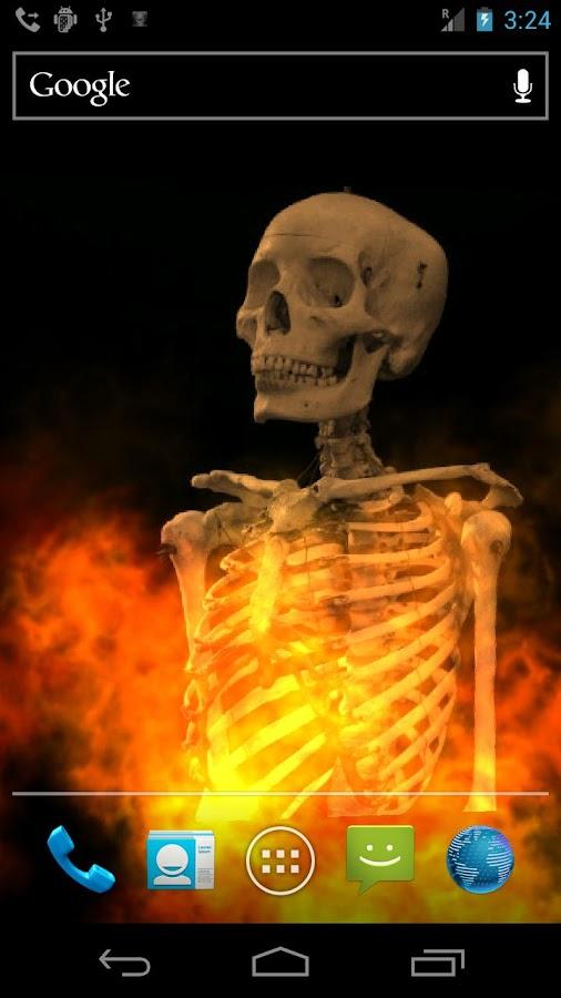 Skull Fire Live Wallpaper - screenshot