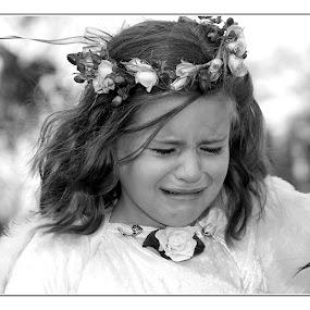 Too cold by Béanca Van Heerden - Babies & Children Children Candids ( girl child, crying, flowergirl, emotion, tears,  )