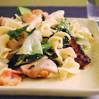 Egg Noodles with Chicken and Escarole.