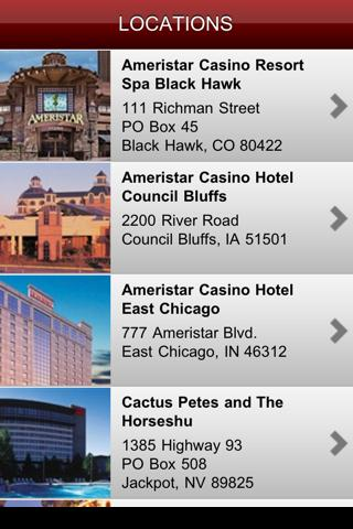 Ameristar Casinos, Inc. - screenshot