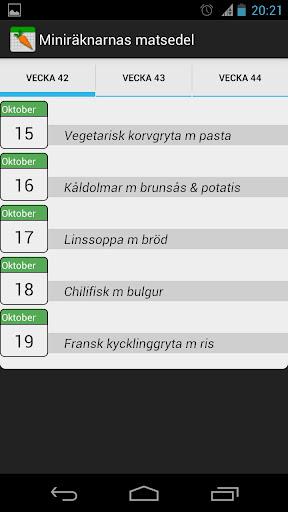 Miniräknarnas matsedel