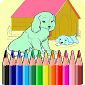 Coloring Book Dog Puppy