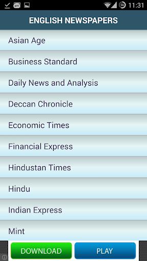 English Newspapers - India