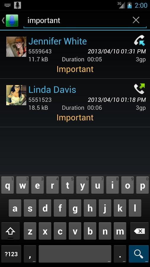 Digital Call Recorder Pro - screenshot