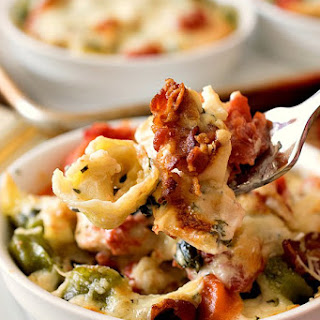 Baked Tortellini with Chicken Gratinati