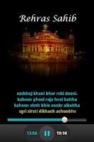 Screenshot of Rehras sahib Audio and Lyrics