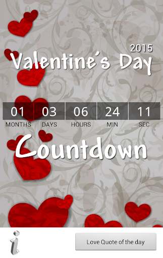 Valentine's Day Countdown 2016