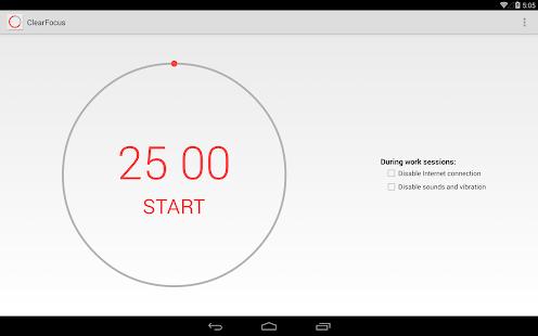 ClearFocus: Pomodoro Timer - screenshot thumbnail