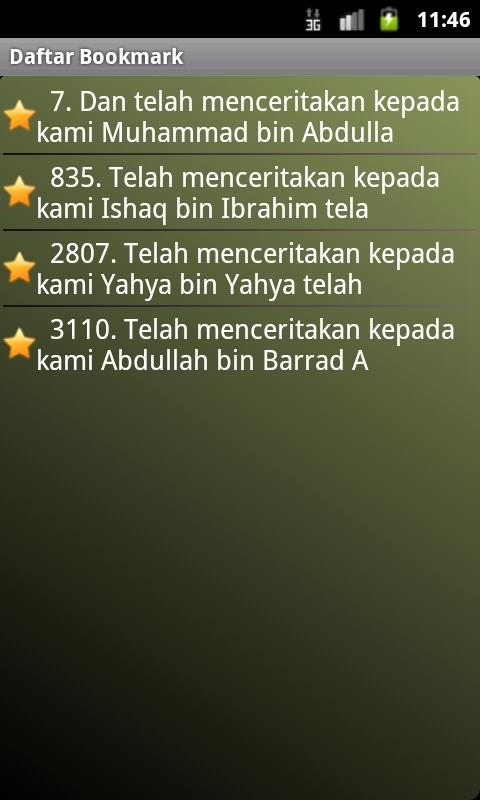 Hadits Muslim in Bahasa- screenshot