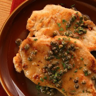 Chicken Scaloppine with Piccata Sauce.
