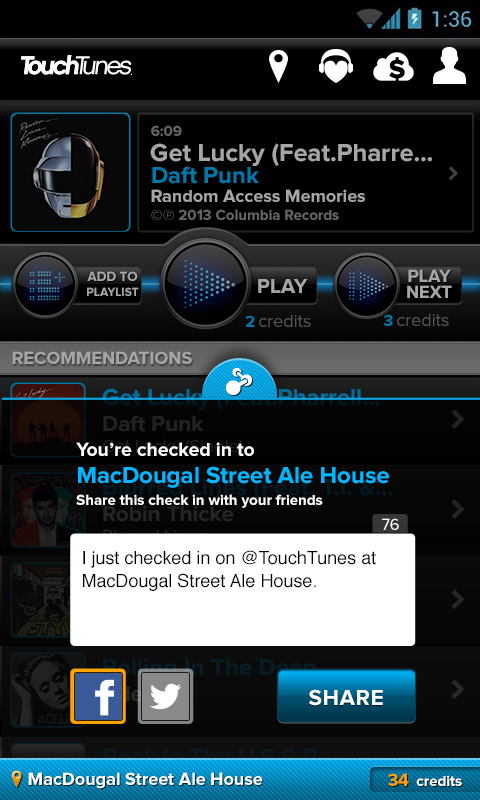 TouchTunes - screenshot