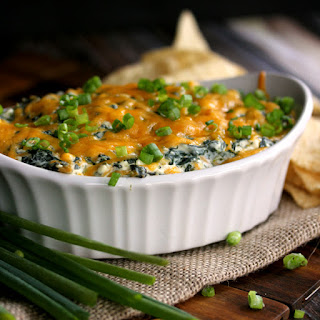 Creamy Baked Double Cheese and Spinach Dip.