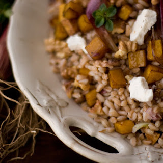Farro and Roasted Butternut Squash.