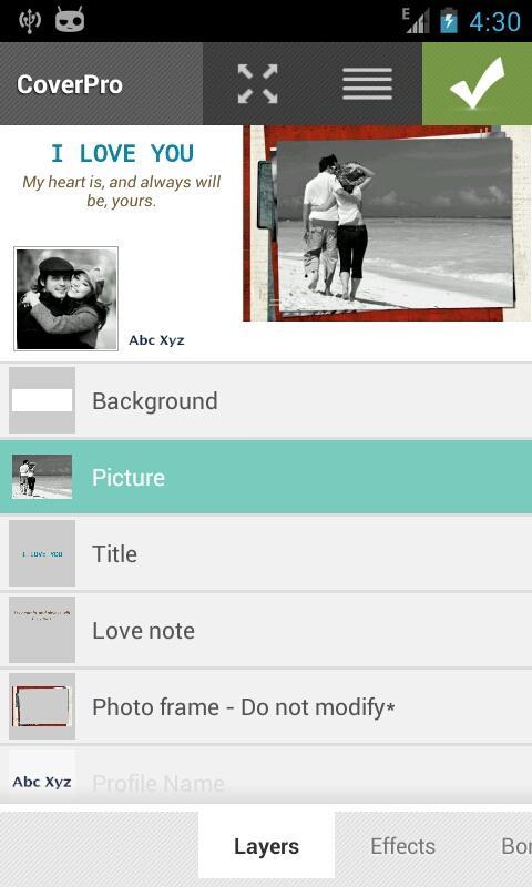 Template Love - CoverPro - screenshot