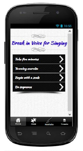 Break in Voice for Singing