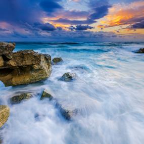 wild sea by George Papapostolou - Landscapes Sunsets & Sunrises ( george papapostolou, sunset, aegean sea, greece, kos island, seascape, nikon,  )