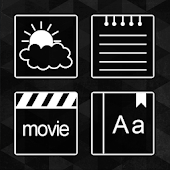 Black and White Atom Iconpack