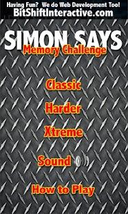 Simon Says Memory Challenge